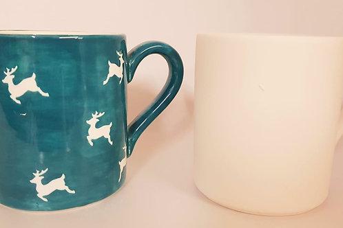 Mug Standard  8.9cm D x 10.2cm H.