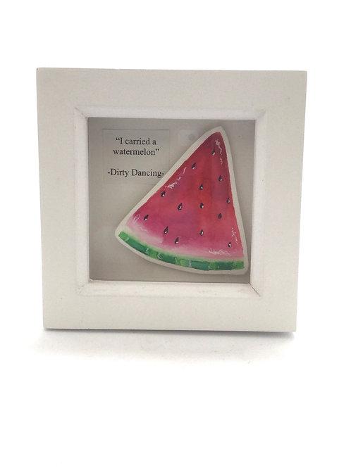 Mini Watermelon handpainted picture