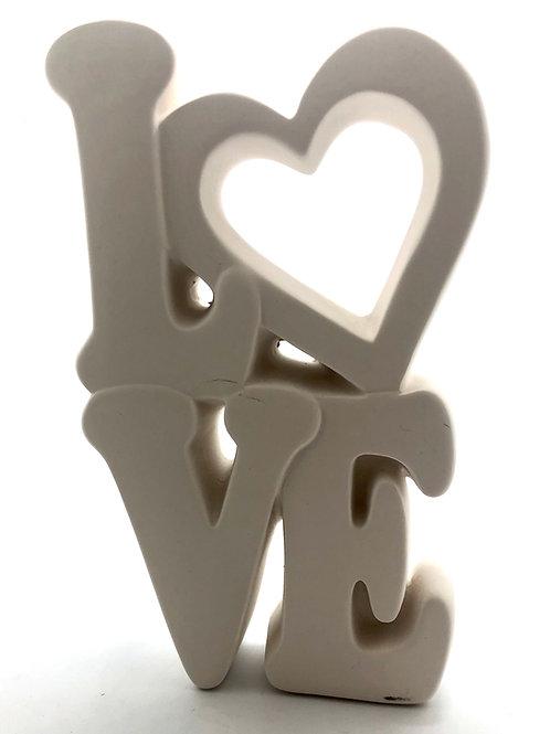 LOVE stack Word  21cm H x 11.4cm W.