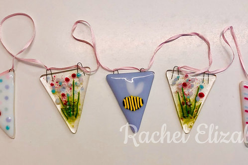 Glass fused bunting