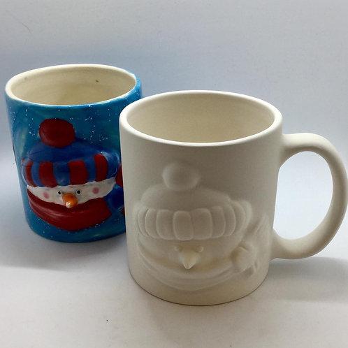 Snowman mug 8.9 x 10.2cm