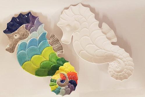 Seahorse Plate 23 x 2.5cm