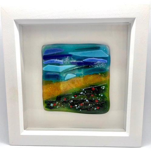 Glass fused seaside inspired picture