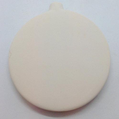 Flat round bauble 10.2cm