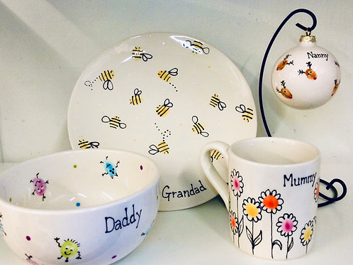 Finger Print Personalised Pottery