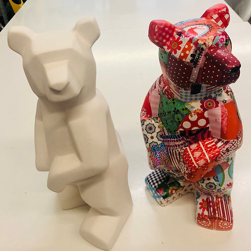 Faceted Bear 25cm H