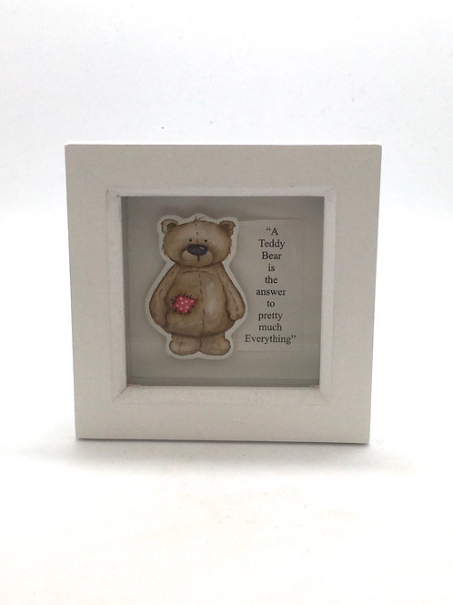 Mini teddy hand painted picture
