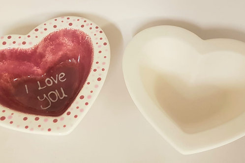 Heart Dish Rimmed 14.5 x 17w x 4cm H