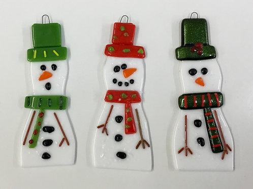 Glass Fused  'Make At Home' Kit Snowman (Make 3)