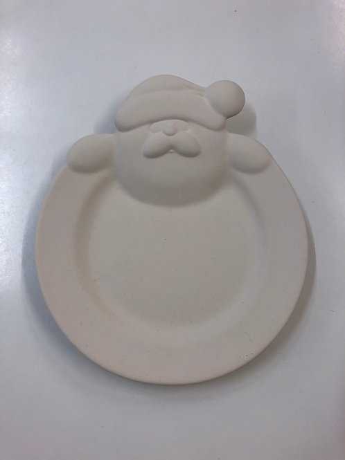 Santa plate rimmed 24.1cm x 29.2cm