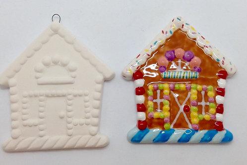 Gingerbread House ornament 8.5 x 8.2cm