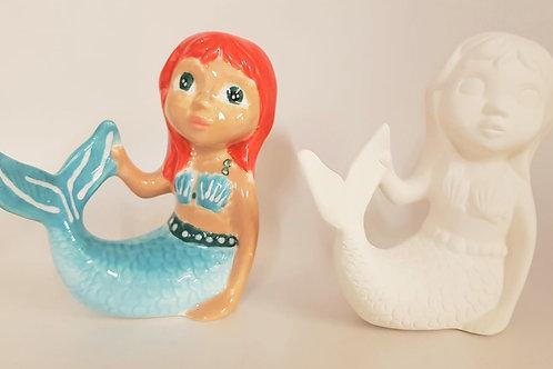Mermaid 11.4 cm H x 10.8 cm L.