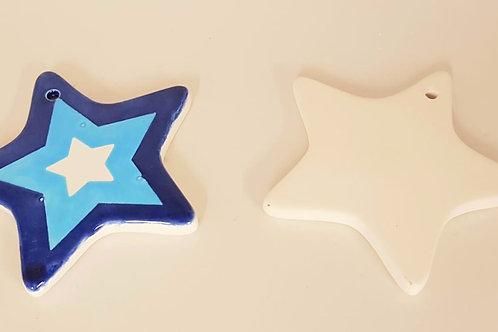 Star ornament Hanging 8.3cm