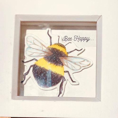 Mini Bee Picture Handpainted