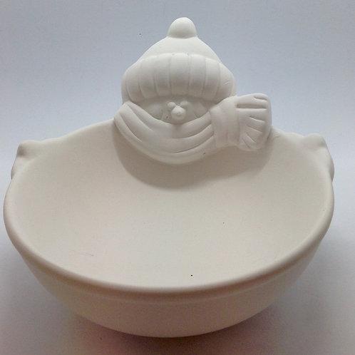 Snowman bowl 16.5 x 10.8 cm