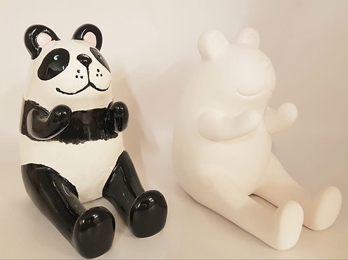 Panda Phone Holder and Money Box 12cm H by 12cm deep and 7.5cm W