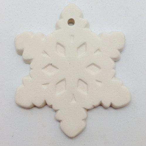 Snowflake ornament 8.9cm