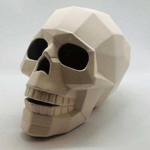 Faceted Skull 14.5 H x 20cm Hx 11.5cm W