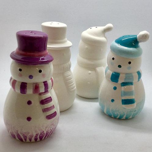 Snowman salt and pepper pots (Pair) 11.5cm
