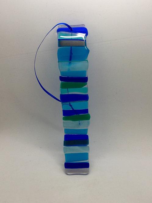 Wavy small glass fused wishstick