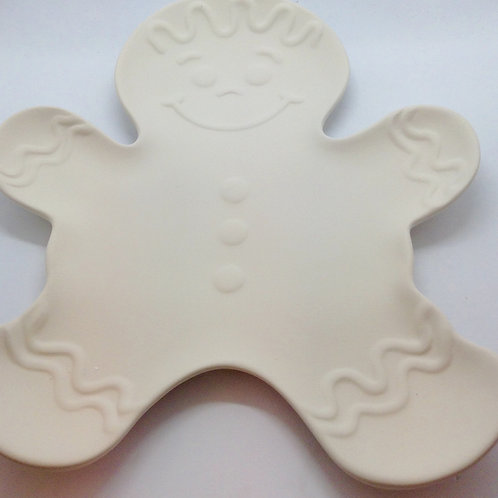 Gingerbread man plate 27.3 x 23.5cm