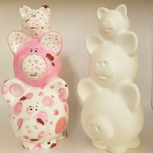 Pile of Pigs Money Box 22.9cm