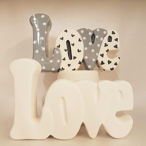 LOVE word 17.1cm x 11.4cm H