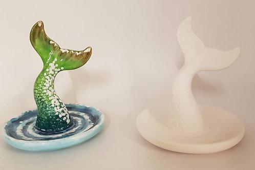 Mermaid Tail Ring Dish  10.1cm H x 8.9cm D
