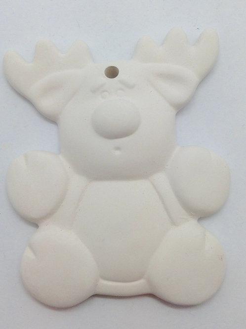 Reindeer ornament 8.9 x 7.6cm