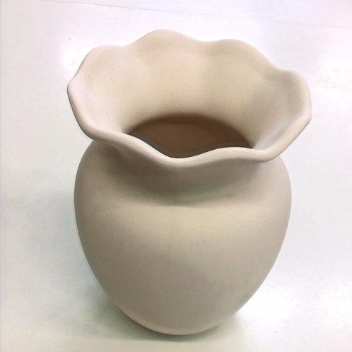 Vase medium Fluted top  (15cm)
