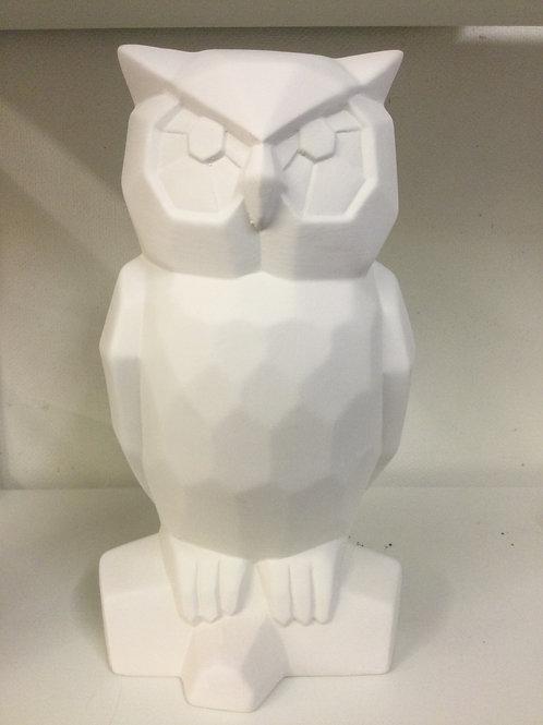Faceted Owl 30cm (h) x 15cm x 15cm