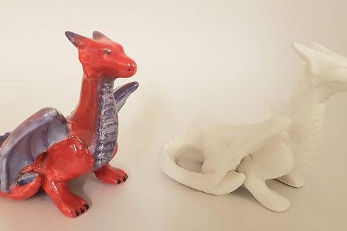 Dragon Crouching 8cm H x 9.5cm L