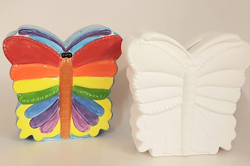 Butterfly Money Box 13cm x 13.5cm x 5cm