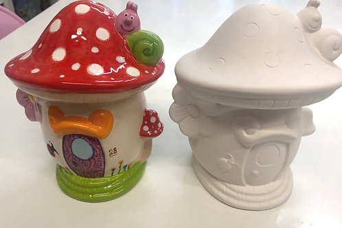 Fairy Toadstool Money Box 16cm x 12.5cm