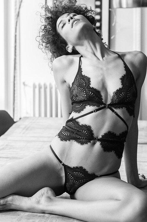ATELIER AMOUR body negru dantela Madame Rêve