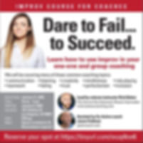 dare to fail to succeed improv coaching