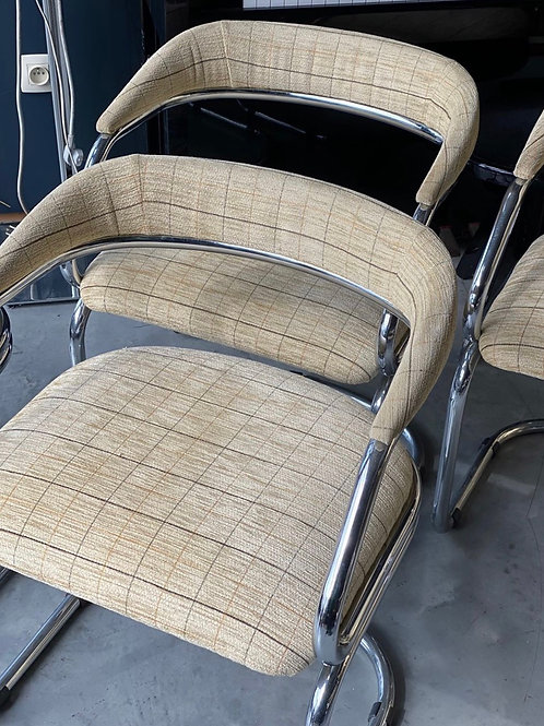 1970s fabric dining chairs