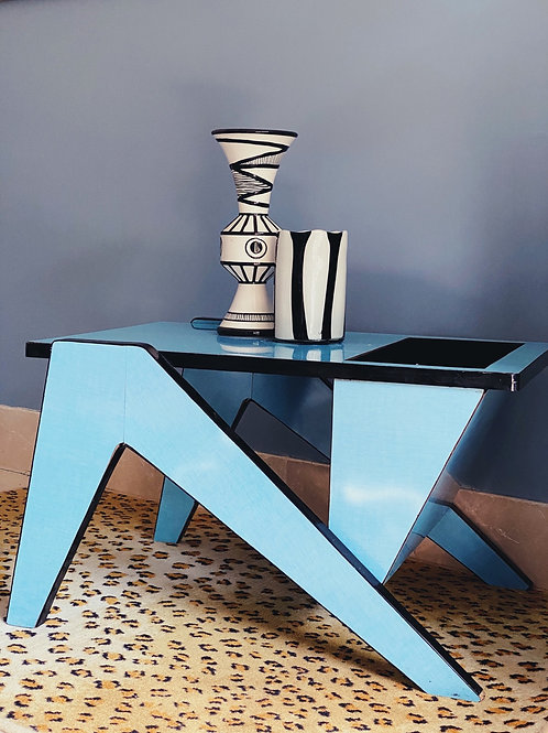 1950s french turquoise coffee table