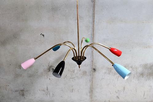 Stilnovo 4 arm spider chandelier