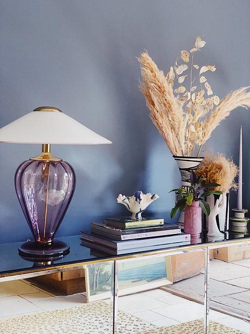 Lilac Murano glass lamp C.1970