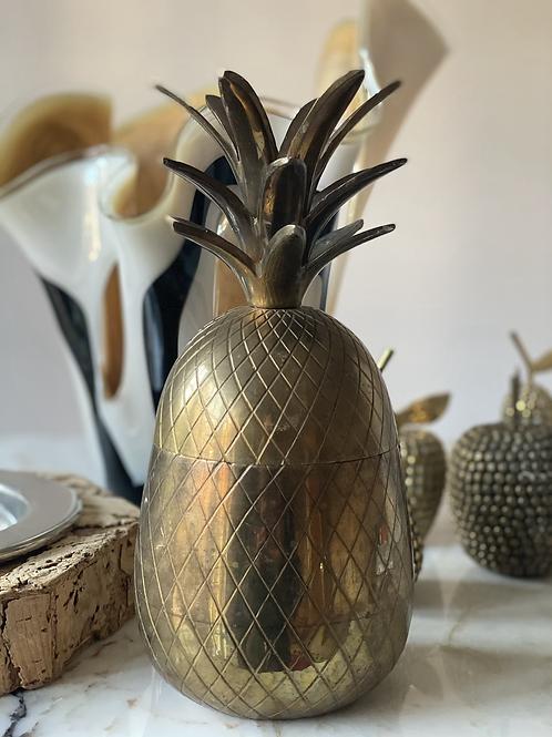 Mid century brass pineapple ice bucket