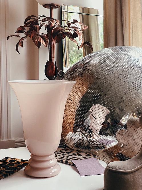 Murano blush glass lamp. C.1970