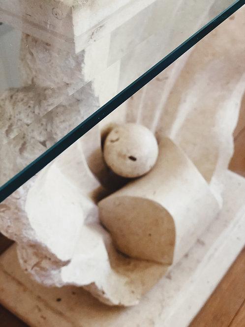 Italian stone clam console