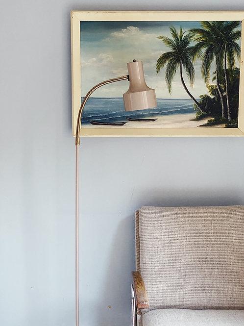 Nude mid century floor lamp
