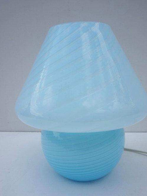 Blue Murano Mushroom lamp