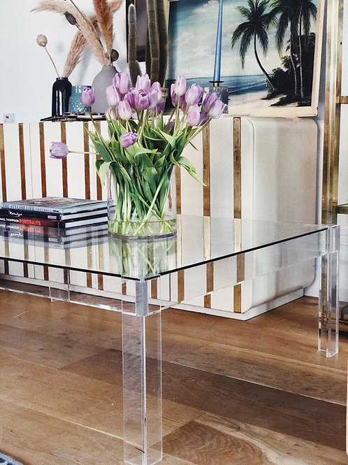 Lucite and glass coffee table C.1970