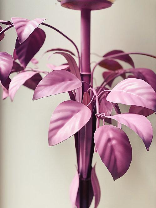 Mid century italian pink leaf floor lamp