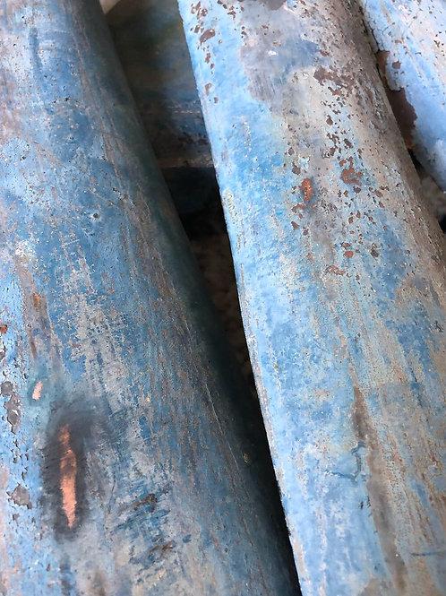 Vintage Copper letters in blue