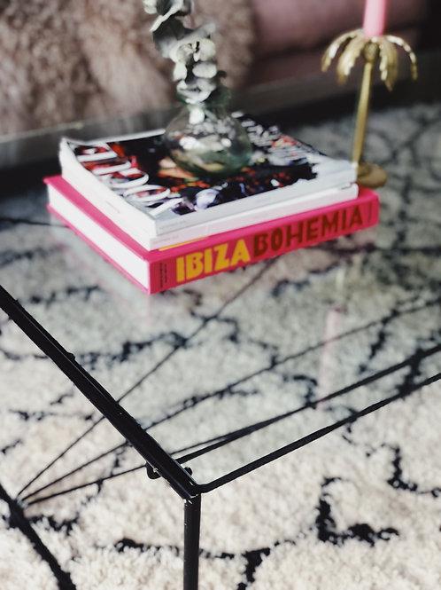 Italian black and glass coffee table C.1980