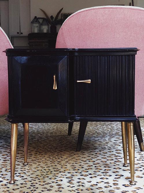 Italian Mid Century Black side cabinets.